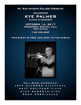 Kyle Palmer Quintet Mt San Antonia College Performing Arts Center, October 14, 2017